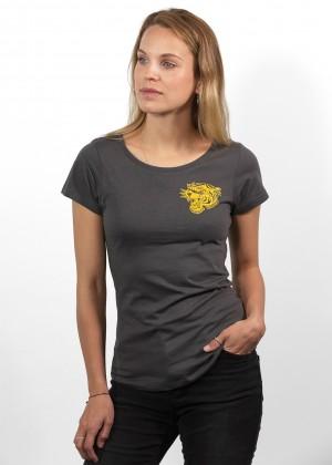 T-Shirt Tiger Grey Womens