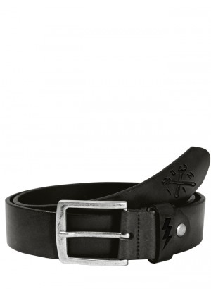 Lether Belt Cross Tool Black