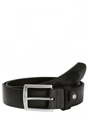 Lether Belt Tiger Black