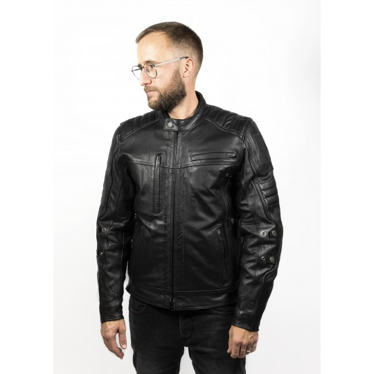 Technical Leather Jacket with XTM
