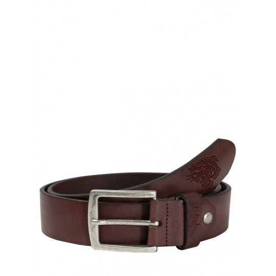 Lether Belt Tiger Brown