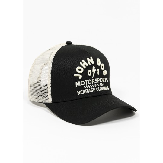 Trucker Hat Black /White- one size