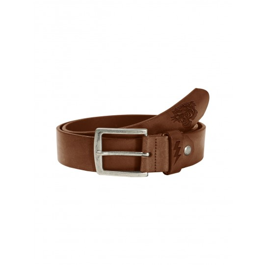 Lether Belt Tiger Dark Cognac