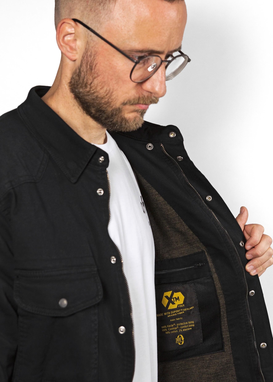 Motorrad Motoshirt Einsetzbare Protektoren Motorradjacke mit Kevlar John Doe Motoshirt Grey//Black XTM XTM Made with DuPont Kevlar Atmungsaktiv