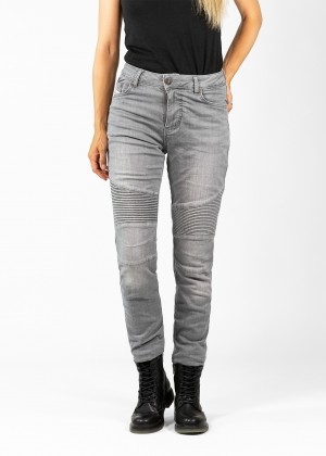 Betty Biker Jeans Light Grey
