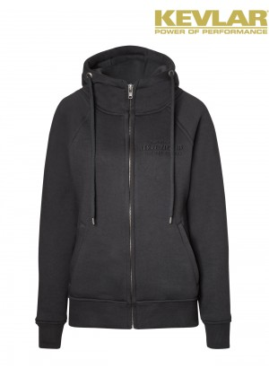 Womens Hoodie Black with Kevlar ®