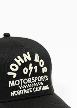 JOHN DOE CAP - Trucker Hat Black /White