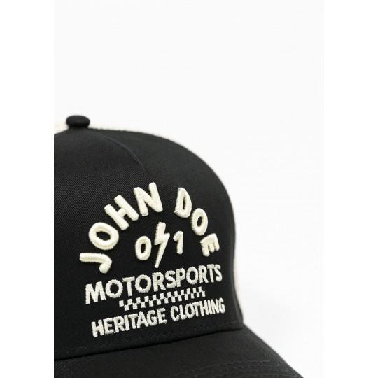 JOHN DOE CAP - Trucker Hat Black /White