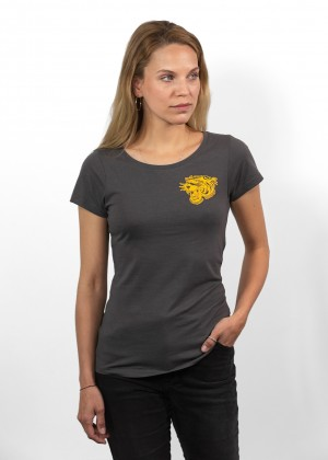 T-Shirt Tiger Grey Womens