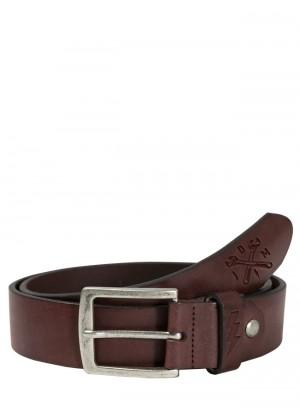 Lether Belt Cross Tool Brown