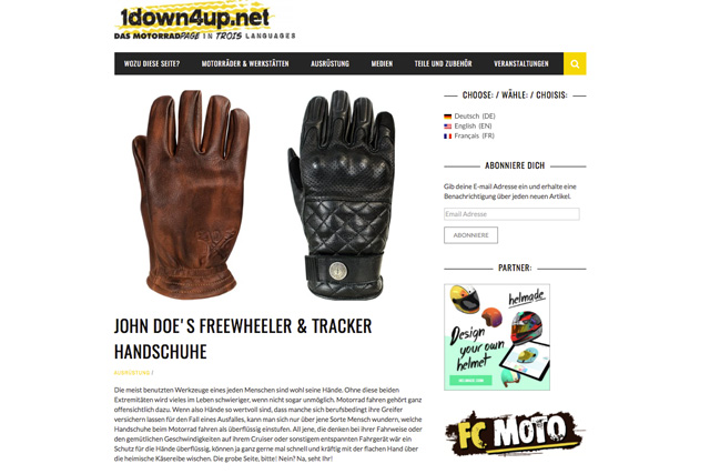 1down4up.net glove review