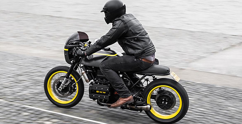 John Doe on Pipeburn with BMW K75  – Moto Adonis